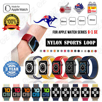 AU6.45 • Buy Nylon Woven For Apple Watch Series 6 5 4 3 2 SE IWatch Band Strap 3840mm 4244mm
