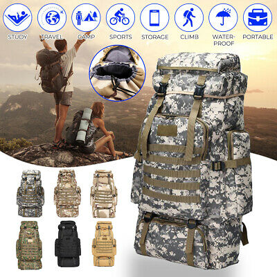 AU16.99 • Buy Military Tactical Oxford Hiking Camping Backpack/Rucksack Luggage Bag Outdoors
