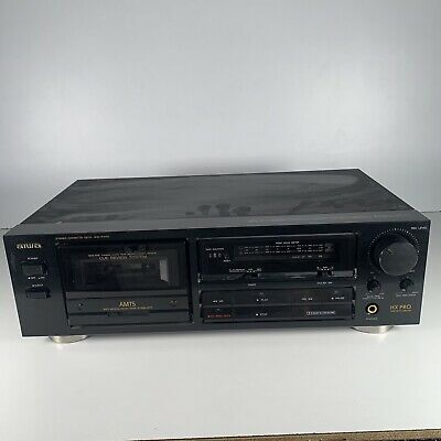 £29.99 • Buy Aiwa AD-F460K Cassette Deck Tape Recorder Black Spares Or Repairs Power On