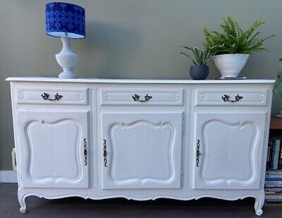 £225 • Buy Stunning Large Vintage Carved French Painted Sideboard Decorative Storage Unit