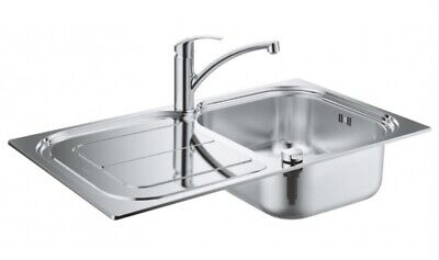 £99 • Buy Grohe Eurosmart Stainless Steel Kitchen Sink And Tap Bundle 31565SD0 Brand New