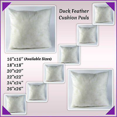 £7.49 • Buy Duck Feather Cushion Pads,Inserts,Fillers,Inners Extra Filled Pillows All Sizes.