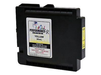 £54.72 • Buy 60mL InkOwl YELLOW Performance-R Sublimation Cartridge For RICOH GX 5050 GX 7000