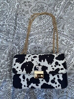 £5 • Buy Women's Faux Cow Print Shoulder Bag New Without Tags