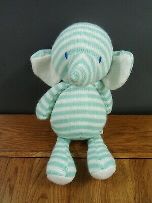 £6.99 • Buy Mothercare Striped Knitted Elephant 12  Soft Toy