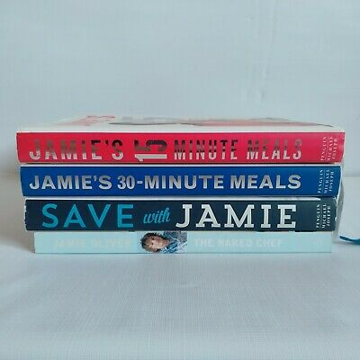AU28 • Buy Jamie Oliver Cook Books X4 The Naked Chef  Minute Meals Save With Jamie