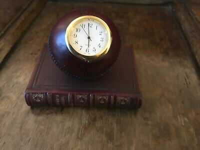 £16.99 • Buy Vintage Cricket Ball Clock Leather Covered