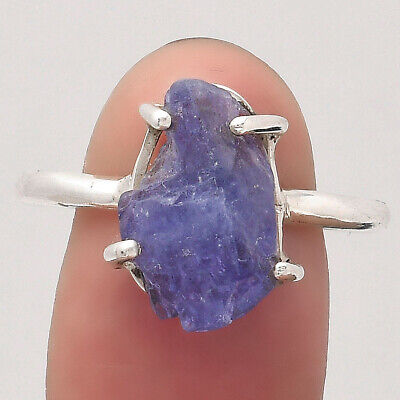 £13.76 • Buy Natural Tanzanite Rough 925 Sterling Silver Ring S.9 Jewelry E640