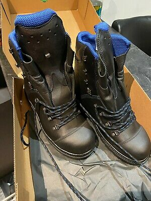 £180 • Buy Haix BLUE MOUNTAIN Gore-Tex Chainsaw  Leather Safety Boots UK 8 EU 42