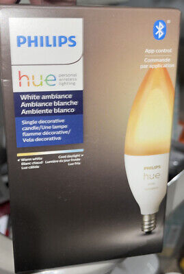 AU15.98 • Buy Philips Hue White Ambiance A19 LED Smart Bulb Bluetooth Dimmer 556976