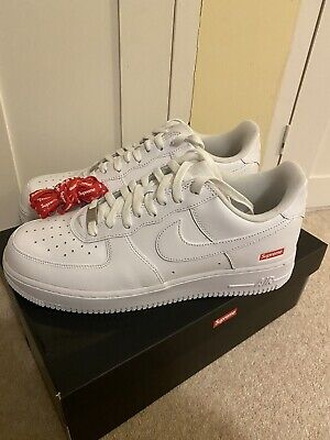 £140 • Buy Supreme X Nike Air Force 1 Low White - UK9 - Brand New ✅ FAST DISPATCH 🚚
