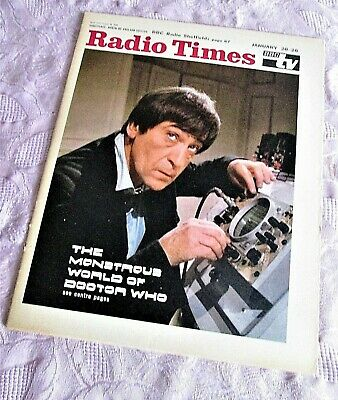 £555 • Buy DOCTOR WHO Vintage RADIO TIMES 1968 PATRICK TROUGHTON Cover. Paper Magazine