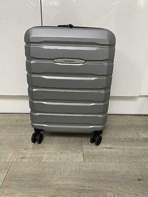 £80 • Buy Cabin Size Hard Samsonite Suitcase In Silver With USB Charging