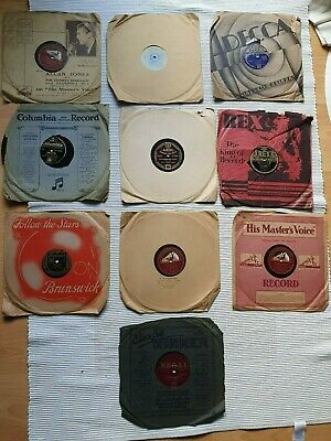 £12 • Buy Selection 10 X 78 Rpm GRAMOPHONE RECORDS 10  Big Band. Bing Crosby. Billy Cotton