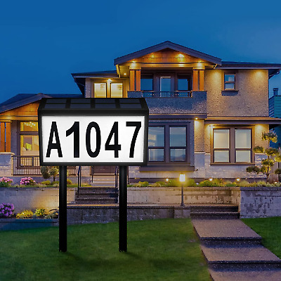 £30.40 • Buy Lighted House Numbers For Outside, Solar Address Sign LED House Number Address P