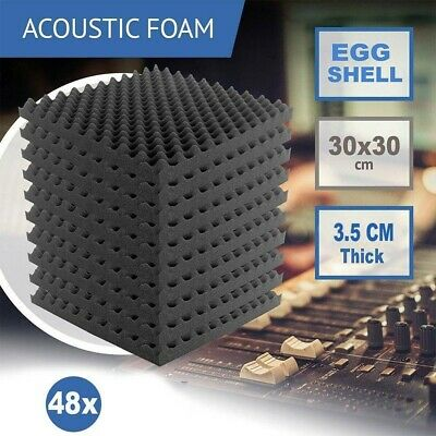 £32.99 • Buy 48 PCS Acoustic Wall Panel Tiles Studio Sound Proofing Insulation Foam Pads
