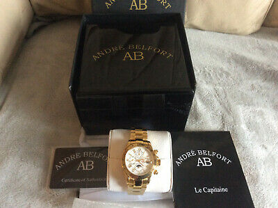 £327.93 • Buy  André Belfort - Mens Watch - 410176 Le Capitaine Gold Silber