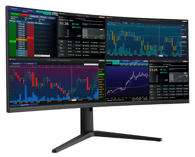 AU628 • Buy QSM 34  Curved UWQHD Ultrawide 144Hz 1ms Gaming And Office Monitor (3440 × 1440)