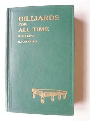 £130 • Buy BILLIARDS FOR ALL TIME By Riso Levi 1st Ed 1935 SIGNED By The Author 10N