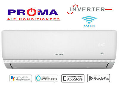 AU1075 • Buy New Proma 7.2kw Inverter + Wifi Air Conditioner Reverse Cycle Split System
