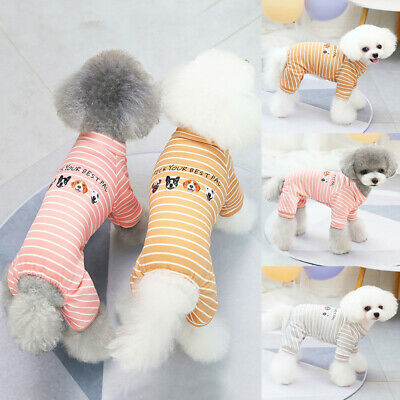 £6.49 • Buy Small Pet Dog Sleepwear Pajamas Jumpsuit Puppy Casual Outfit Clothes Costume