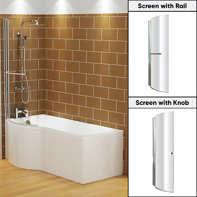 £240.99 • Buy 1500/1600/1700mm P Shaped Shower Bath Bathtub Front & End Panel With Screen