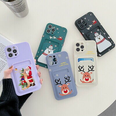 AU6.05 • Buy Silicone Case For IPhone 13 12 11 Pro Max XS XR 8 Christmas Card Slot Back Cover