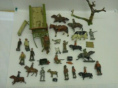 £22.60 • Buy Job Lot Of Vintage Britains & A Few Other Lead  Soldiers And Farm Items Damaged