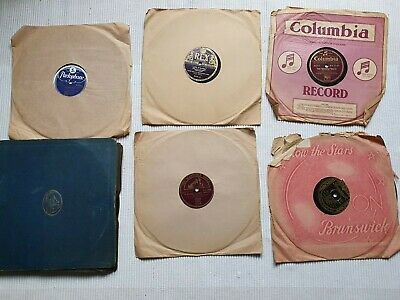 £12 • Buy Selection 11 X 78 Rpm GRAMOPHONE RECORDS 10  Al Jolson Count Basie Vic Silvester