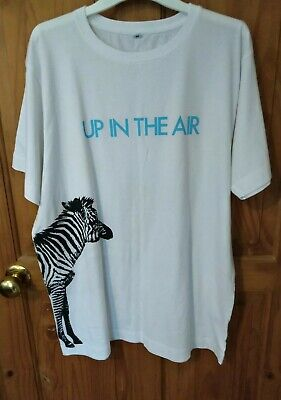 £10.99 • Buy 30 Thirty Seconds To Mars Zebra Unisex T-shirt Size M - Up In The Air Jared Leto