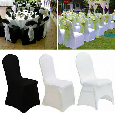 £52.99 • Buy 50/100X White Strong Spandex Universal Wedding Banquet Chair Cover Meeting Room