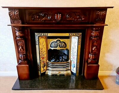 £154 • Buy Large Antique Style Exceptional Quality Fire Surround And Harth (unmarked)