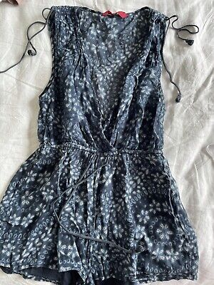 AU8.50 • Buy TIGERLILY Summer Floral Sleeveless Playsuit Size 6