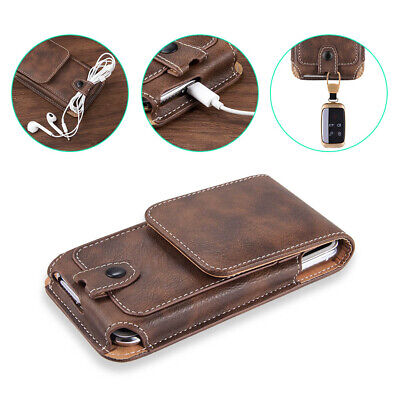 AU19.99 • Buy For Oppo A16S Black Leather Tradesman Workman Belt Clip Loop Card Slot Case