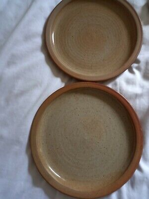 £46 • Buy Winchcombe Pottery  X 2 Stoneware Plates - 23.5cm Or 9.25  - Lovely Vintage