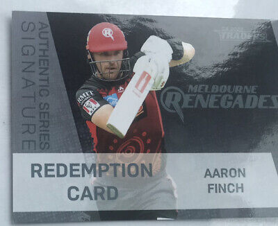 AU40 • Buy 2020/21 Aaron Finch Authentic Signature TLA BBL Traders Cricket Card #22