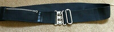 £3.99 • Buy Navy Belt With Coin Zip Pocket And Nurse Style Belt Buckle 32  Length