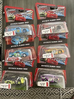 £43.45 • Buy 6 Disney Cars Kmart Day Lot Synthetic Rubber Tires 2009 Rev Go Spare Octane Cola