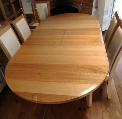 AU999 • Buy Tasmanian Oak Dining Table Extendable - Solid Timber - 8 Chairs Included