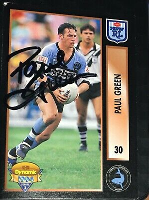 AU8 • Buy * SIGNED 1994 NRL DYNAMIC S2 PAUL GREEN #30 Trading Card - SHARKS - Free Postage
