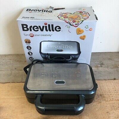 £19.99 • Buy Breville 2 Slice Ultimate Deep Fill Sandwich Toaster With Box - Fully Working