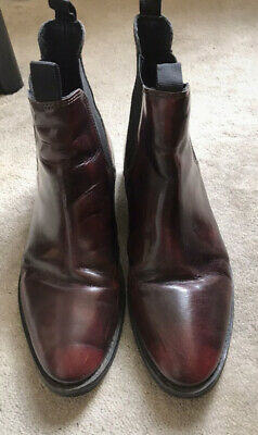 £8 • Buy Office Red Burgundy Leather Heeled Boots 7