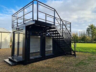 £20000 • Buy Container Log Cabin Shepherds Hut Glamping Summer House Office Railway Carriage