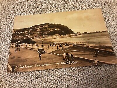 £1 • Buy Old Frith Postcard Of The Strand & North Hill, Minehead, Somerset Posted 1930