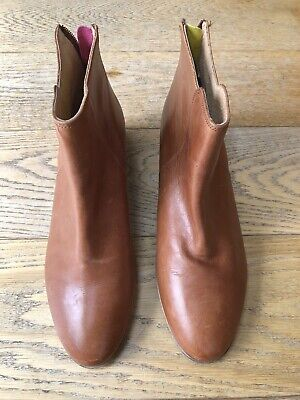 £29.99 • Buy Ladies / Women's Joules Tan Leather Boots Size 8 Brand New