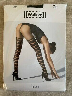 £5 • Buy Brand New - Wolford Women's Hero Black Tights Size XS (RRP £25)