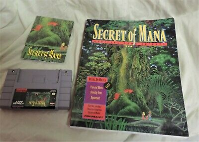 £36.42 • Buy Secret Of Mana (SNES, 1993) With Manual And Book Of Game Secrets