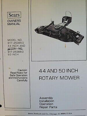 AU160.17 • Buy Sears FF/ 20 24 18 Lawn Garden Tractor Implements Owner & Parts (6 Manual S) H.p