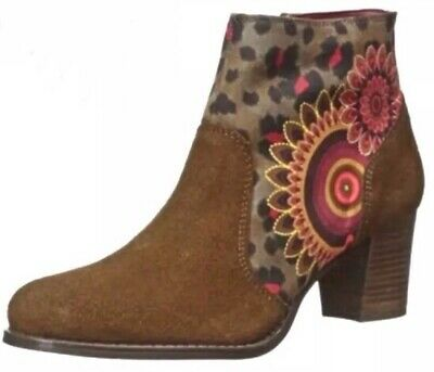 £76.13 • Buy Desigual Brown Suede Ankle Boot Size 7.5 New In Box NIB