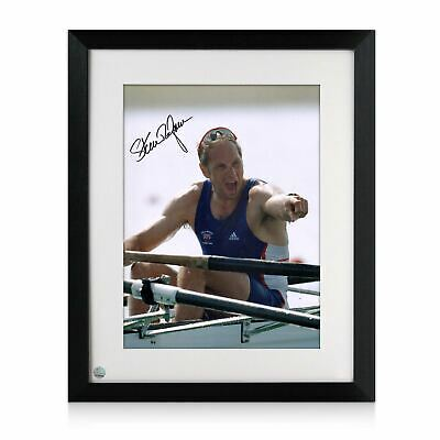 AU215 • Buy Steve Redgrave Signed Rowing Photo: Five Time Olympic Champion. Framed